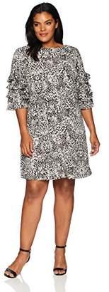 Gabby Skye Women's Plus Size Cha Sleeve Shift Dress