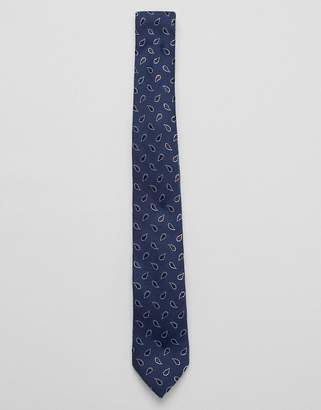 Jack and Jones Paisley Tie In Navy