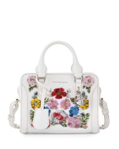 Alexander McQueenAlexander McQueen Mini Padlock Satchel Bag, White/Multi