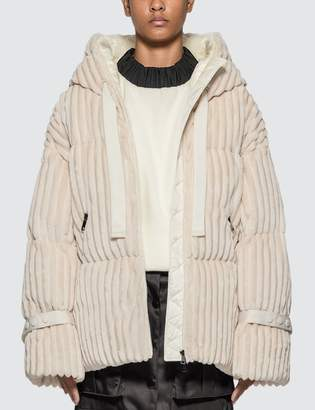 Moncler Velvet Hooded Down Jacket