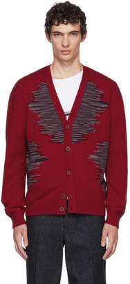 Missoni Red Pattern Cardigan