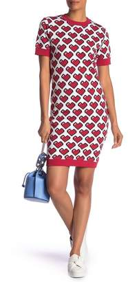 Love Moschino Pixel Heart Sweater Dress