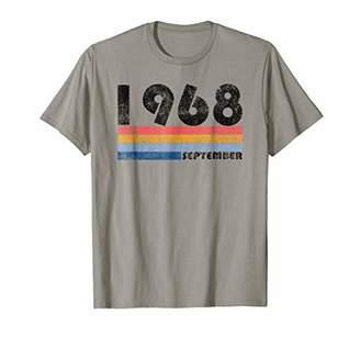 50th Birthday Gift Retro Born in September of 1968 T Shirt
