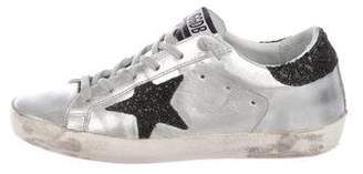 Golden Goose Leather Round-Toe Sneakers