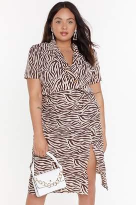 Nasty Gal Womens Real Wild Child Zebra Shirt - Beige - 16, Beige