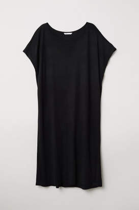 H&M Short-sleeved Jersey Dress - Black