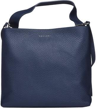 Orciani Jackie Blue Navy Shoulder Bag