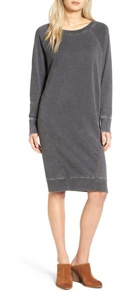 Women's Treasure & Bond Off The Shoulder Fleece Knit Dress