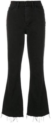 Tory Burch Wade frayed flare jeans
