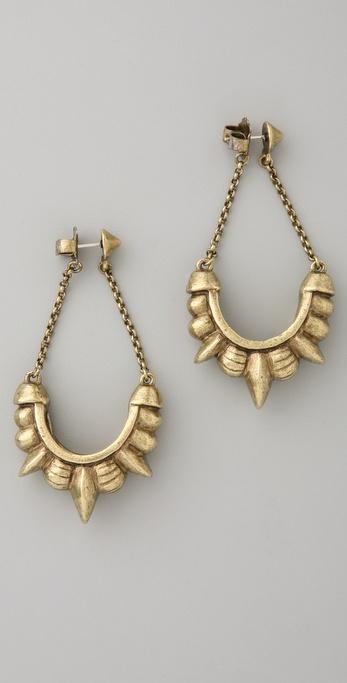 Pamela Love Tribal Spike Chain Earrings