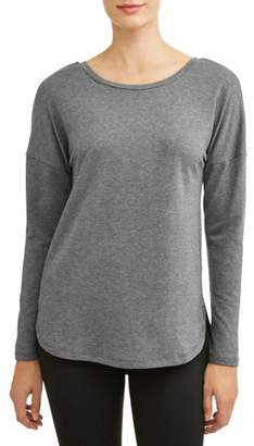 Athletic Works Women's Athleisure French Terry Long Sleeve T-Shirt
