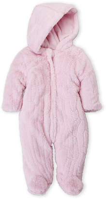 Baby Essentials Baby Dove (Newborn Girls) Fuzzy Zip Pram Suit