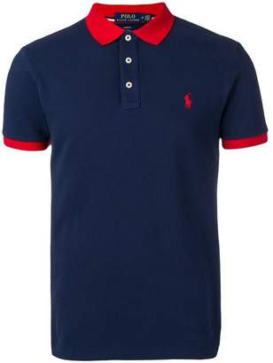 Polo Ralph Lauren contrast collar polo shirt