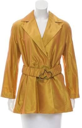Akris Silk Iridescent Jacket