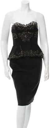 Marchesa Lace Strapless Dress w/ Tags