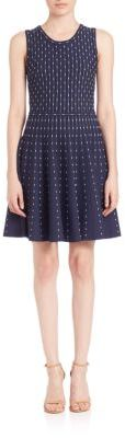 MILLY Dot Fit-&-Flare Dress $450 thestylecure.com