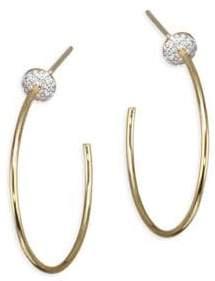 "Phillips House Affair Diamond Infinity Micro Disc Hoop Earrings/1.25"""