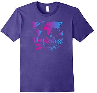 Wanderlust Shirt Travel World Map Adventure T-Shirt