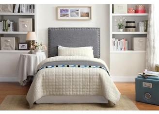 Furniture Of America Furniture of America Dalton Twin Grey Upholstered Headboard