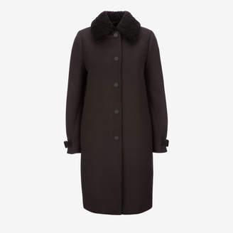 Bally Padded Wool Coat Blue, Women's wool coat in ink
