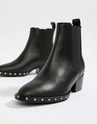 AllSaints Ellis chelsea boot with stud