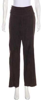 Valentino Mid-Rise Suede Pants