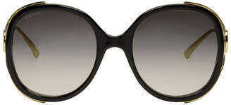 Gucci Black and Gold Injected Sunglasses