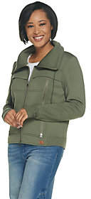 At Qvc  C B Peace Love World Zip Front Scuba Jacket Withdrawcord