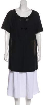 Chloé Short Sleeve Button-Up Jacket