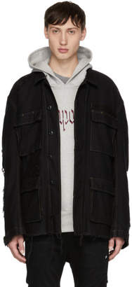 R 13 Black Shredded Abu Jacket