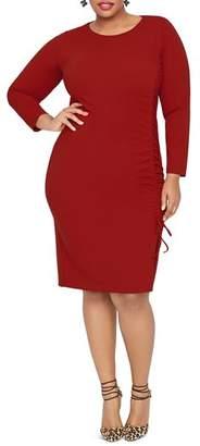 Rachel Roy Plus Emmett Drawstring-Side Dress