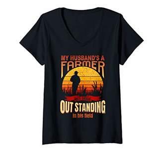 Womens Farmers Wife V-Neck T-Shirt