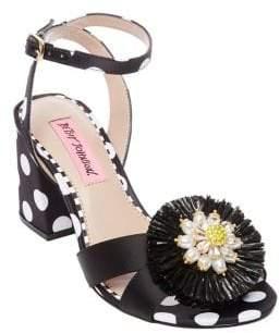 Betsey Johnson Asha Polka Dot Block Heel Sandals