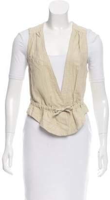Etoile Isabel Marant Linen-Blend Utility Vest