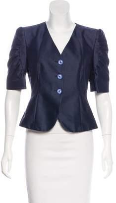 Armani Collezioni Short Sleeve Structured Jacket