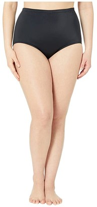Maxine Of Hollywood Swimwear Plus Size Solids Separate High-Waist Pant Bottoms