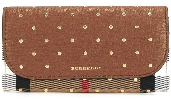 Burberry  Burberry studded 'House Check' wallet