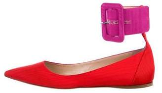 ATTICO Pointed-Toe Ballet Flats