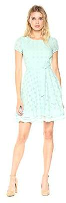 Signature Society Lady's Cotton Embroidered Short Sleeve Dress