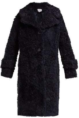 Proenza Schouler Pswl - Faux Shearling Coat - Womens - Navy