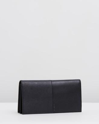 Cerruti Crossgrain Leather Long Wallet
