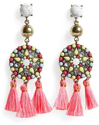 Women's Baublebar Mosaic Tassel Drop Earrings $36 thestylecure.com