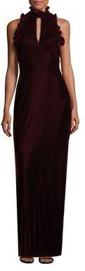 Shoshanna Alana Velvet Ruffle Gown $450 thestylecure.com