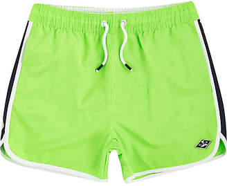 River Island Boys bright Green runner swim shorts