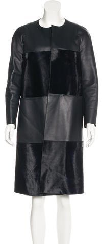 MulberryMulberry Leather Ponyhair-Trimmed Coat