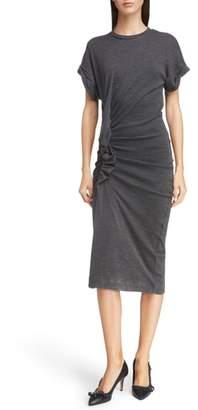 Etoile Isabel Marant Jisa Gathered Wool Midi Dress