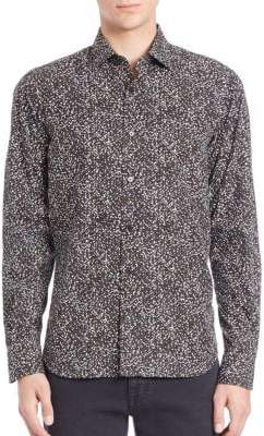 Saks Fifth Avenue Paint Splatter Pattern Shirt