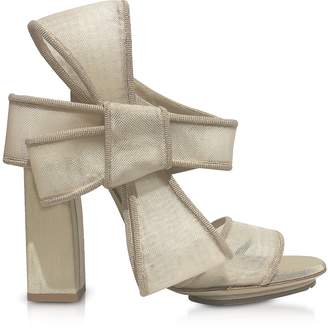 DELPOZO Beige High Heel Bow Sandals