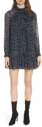 Kate Spade leopard clip dot minidress
