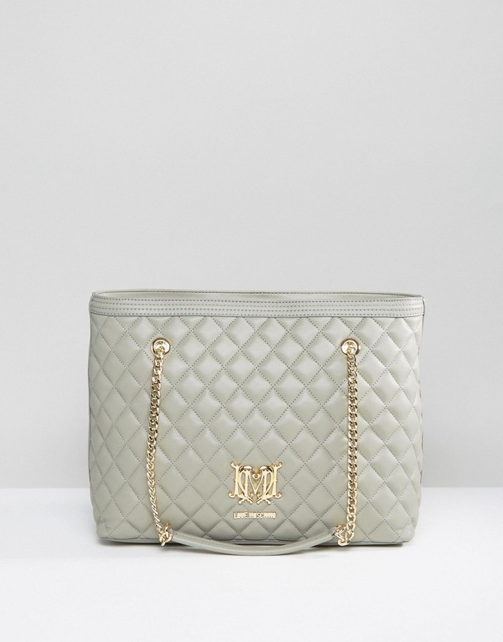 Love MoschinoLove Moschino Quilted Shopper Bag With Chain